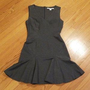 Diane von Furstenberg Drop Waist Gray Dress Sz 6